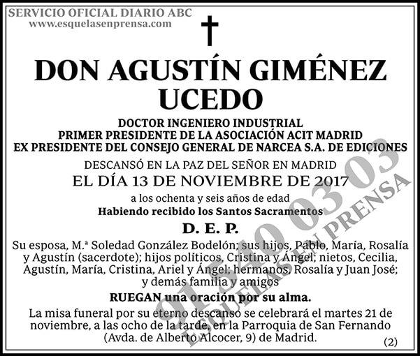 Agustín Giménez Ucedo